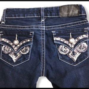 Soundgirl Embellished Low Waist Jeans Size 0